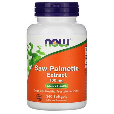 Экстракт пальмы сереноа, 160 мг, 240 гелевых капсул