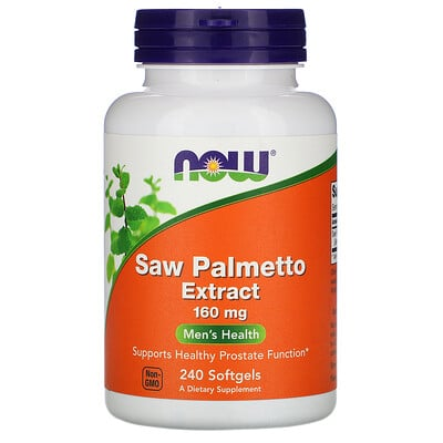 Now Foods Экстракт пальмы сереноа, 160 мг, 240 гелевых капсул
