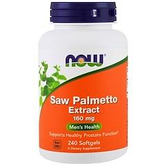 Now Foods, Extracto de serenoa, 160 mg, 240 cápsulas blandas