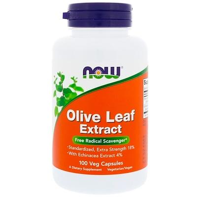 Купить Now Foods Экстракт из листьев оливы, 100 растительных капсул