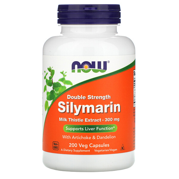 Now Foods, Double Strength Silymarin, 300 mg, 200 Veg Capsules