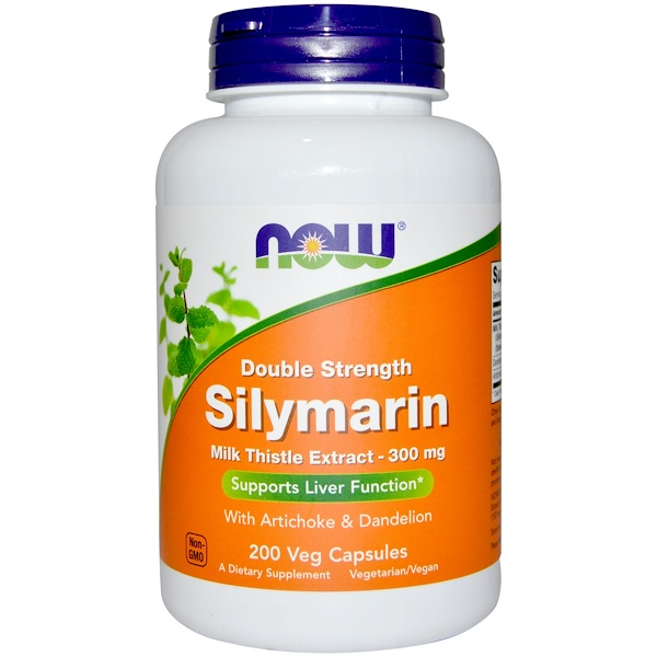 Silymarin, Milk Thistle Extract with Artichoke & Dandelion, Double Strength, 300 mg, 200 Veg Capsules