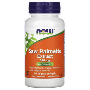 Now Foods, Saw Palmetto Extract, Men's Health, 320 mg, 90 Veggie Softgels отзывы покупателей