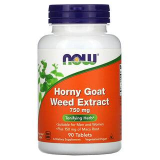 Now Foods, Extracto de hierba de cabra en celo, 750mg, 90comprimidos