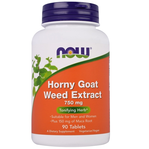 Horny Goat Weed Extract, 750 mg, 90 Tablets