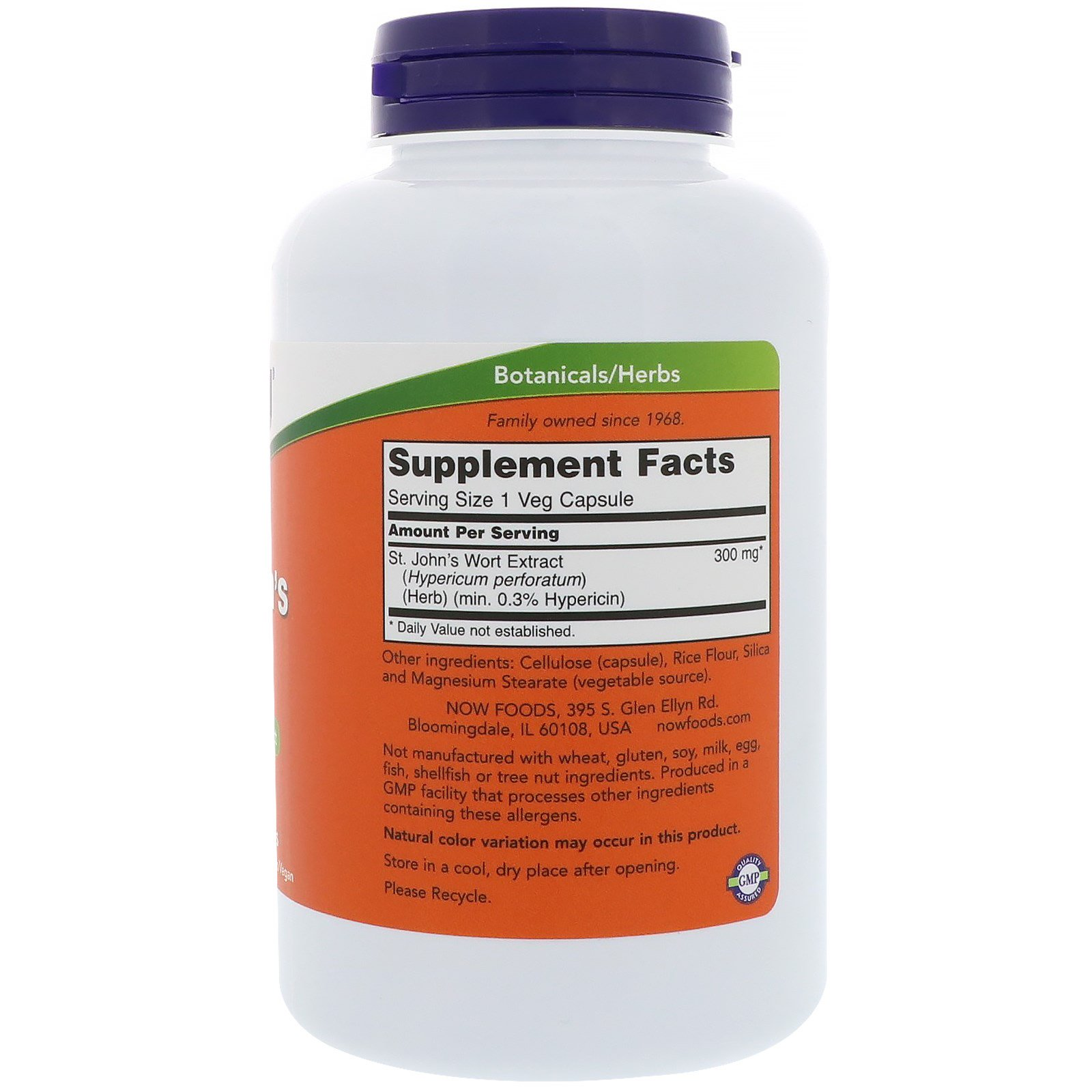 Now Foods, St. John\'s Wort, 300 mg, 250 Veg Capsules - iHerb.com