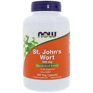 Now Foods, St. John's Wort, 300 mg, 250 Cápsulas Vegetales