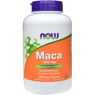 Now Foods, Maca, 500 mg, 250 capsules végétales