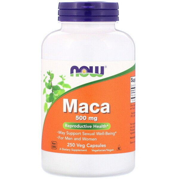 Now Foods, Maca, 500 mg, 250 cápsulas vegetarianas