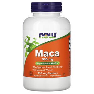 Now Foods, Maca, 500 mg, 250 Veg Capsules отзывы покупателей