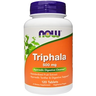 Now Foods, Triphala, 500 mg, 120 Comprimidos