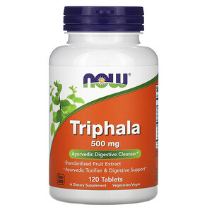 Now Foods, Triphala, 500 mg, 120 Tablets отзывы покупателей