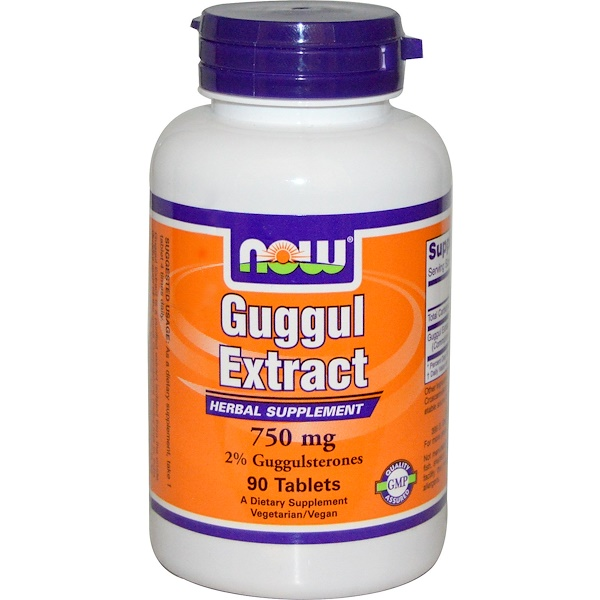 Now Foods, Guggul Extract, 750 mg, 90 Tablets (Discontinued Item)
