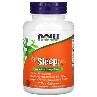 Now Foods, Sleep, Botanical Sleep Blend, botanische Mischung für besseren Schlaf, 90pflanzliche Kapseln