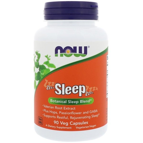 Now Foods, Sleep, Botanical Sleep Blend, 90 Veg Capsules