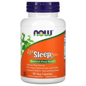Now Foods, Sleep, Botanical Sleep Blend, 90 Veg Capsules отзывы покупателей