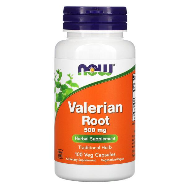 Raíz de valeriana, 500 mg, 100 cápsulas vegetales