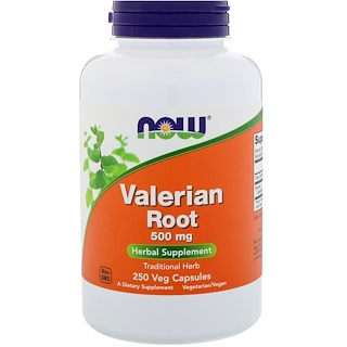 Now Foods, Valerian Root, 500 mg, 250 Veg Capsules