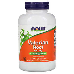 Now Foods, Valerian Root, 500 mg, 250 Veg Capsules отзывы