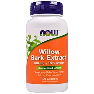 Now Foods, Willow Bark Extract, 400 mg, 100 Capsules