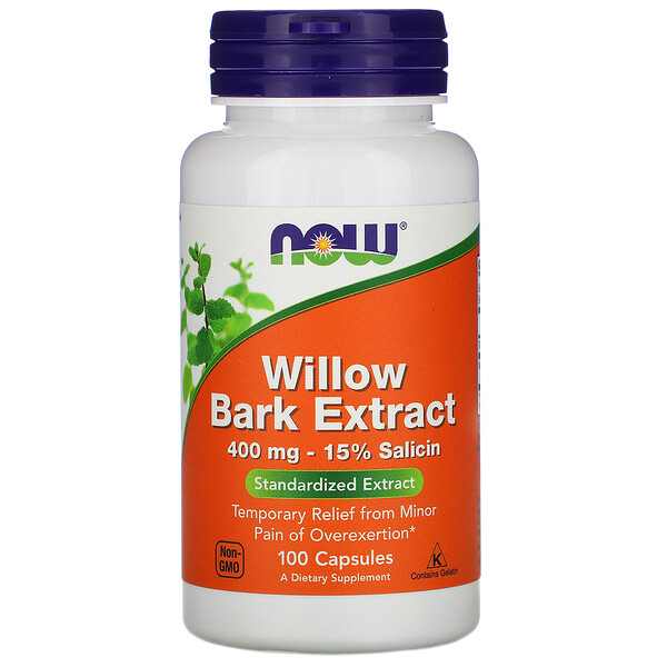 Willow Bark Extract, 400 mg, 100 Capsules
