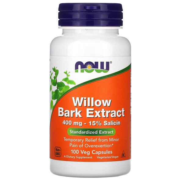 Now Foods, Willow Bark Extract, 400 mg, 100 Veg Capsules