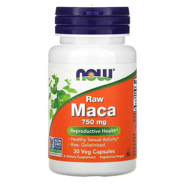 Raw Maca, 750 mg, 30 Veg Capsules
