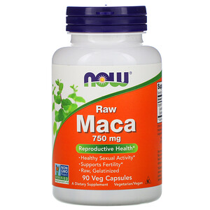 Now Foods, Maca, Raw, 750 mg, 90 Veg Capsules отзывы покупателей