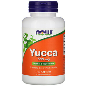 Now Foods, Yucca, 500 mg, 100 Capsules отзывы