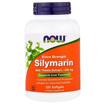 Silymarin, сильнодействующий экстракт расторопши, 120 мягких желатиновых капсул с жидкостью
