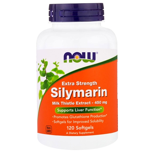 Now Foods, Silymarin, Extra Strength, 120 Softgels