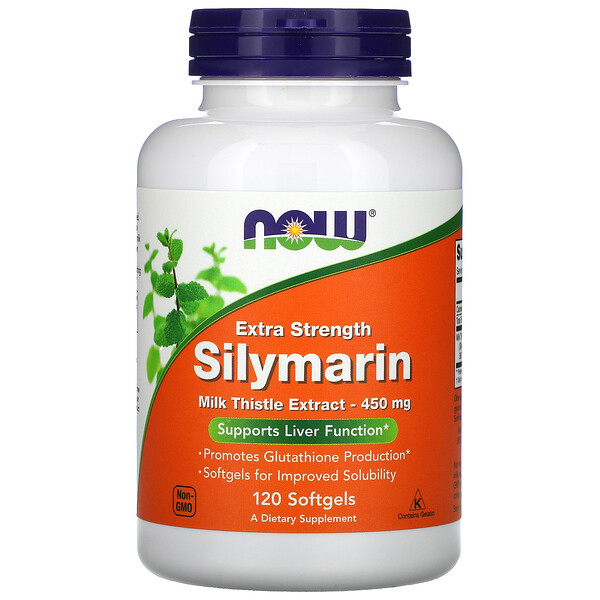 Now Foods, Silymarin, Extra Strength, 450 mg, 120 Softgels