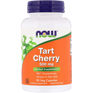 Now Foods, Tart Cherry, 500 mg, 90 Veg Capsules отзывы покупателей
