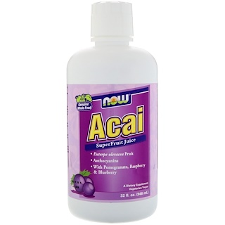 Now Foods, Acai SuperFruit Juice, 32 fl oz (946 ml)