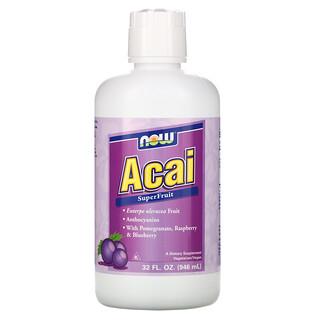 Now Foods, Jugo de superfruta acai, 32 fl oz (946 ml)