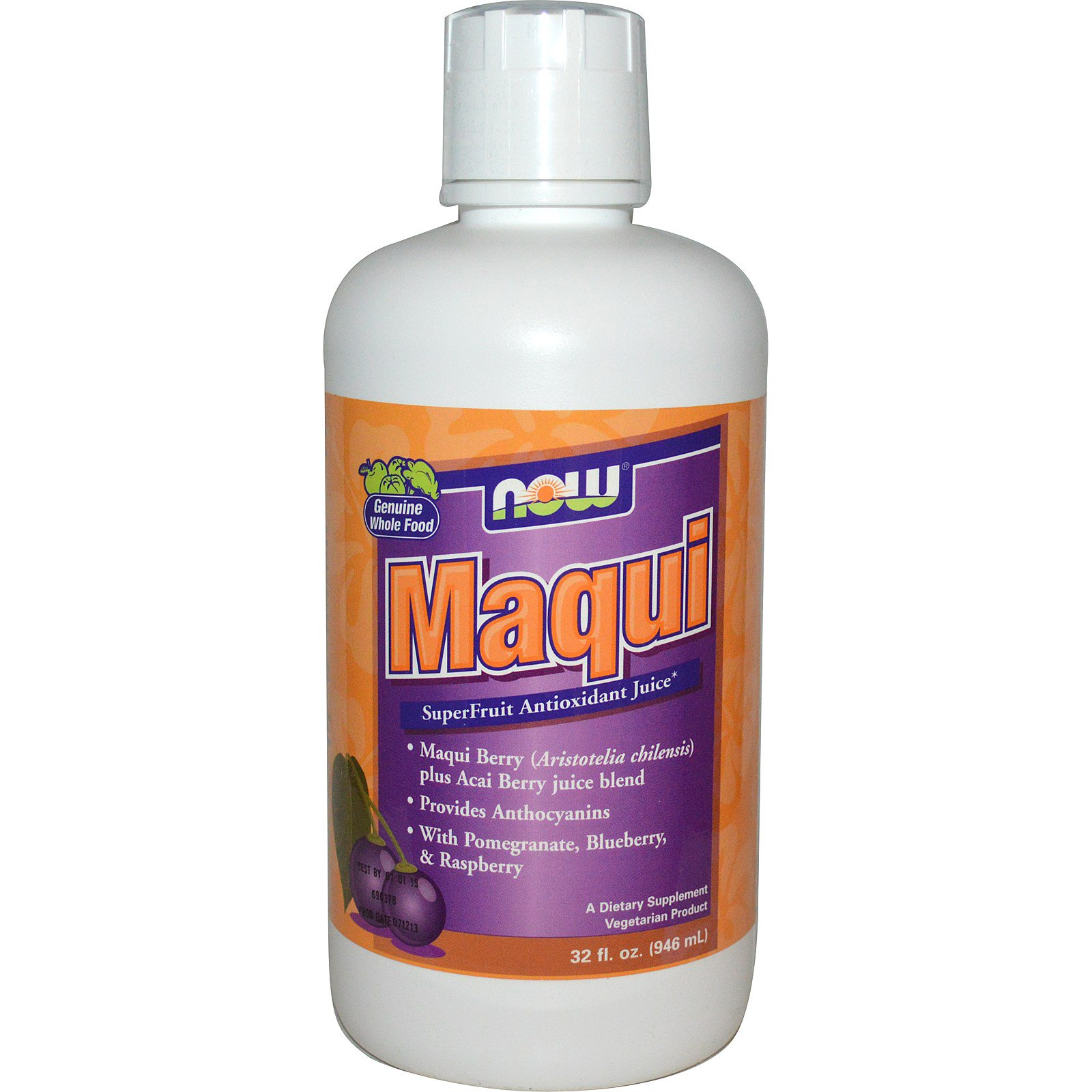 Now Foods Maqui Superfruit Antioxidant Juice 32 Fl Oz 946 Ml