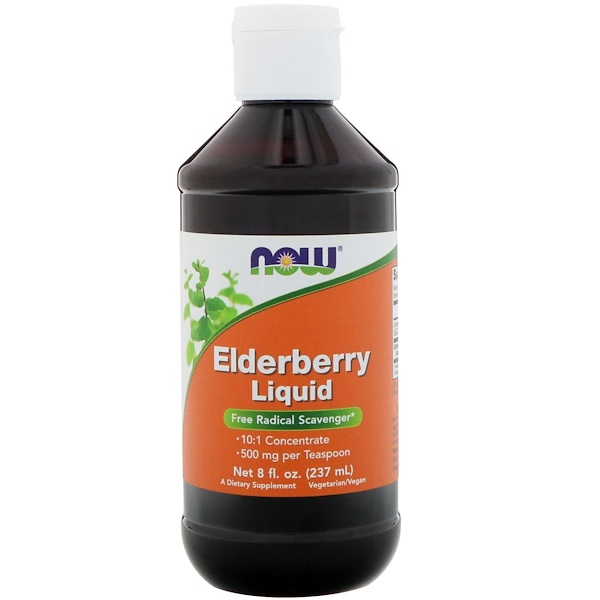 Now Foods, Elderberry Liquid, 8 fl oz (237 ml)