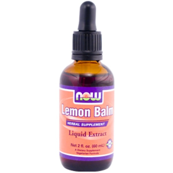 Now Foods, Lemon Balm Liquid Extract, 2 fl oz (60 ml) (Discontinued Item)