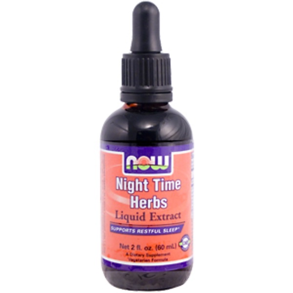 Now Foods, Night Time Herbs Liquid Extract, 2 fl oz (60 ml) (Discontinued Item)
