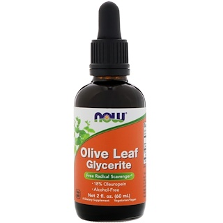 Now Foods, Olive Leaf Glycerite, 2 fl oz (60 ml)
