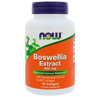 Now Foods, Extrato de Boswellia, 500 mg, 90 cápsulas softgel