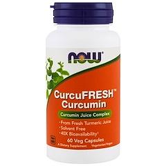 Now Foods, Curcumina CurcuFresh, 60 Cápsulas Vegetais
