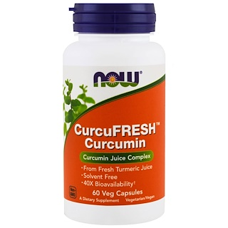 Now Foods, CurcuFresh Curcumin, 60 Veggie Caps
