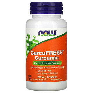 Now Foods, كركمين CurcuFresh، 60 كبسولة نباتية