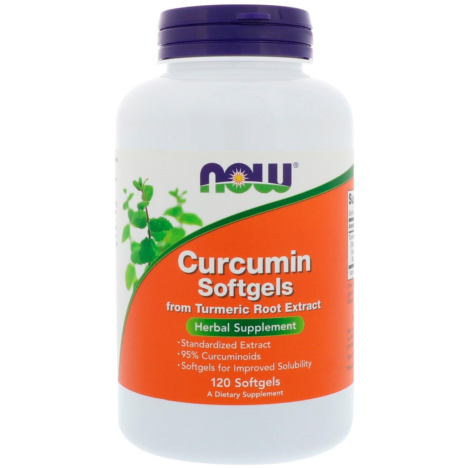 Now Foods, Куркумин, 120 гелевых капсул