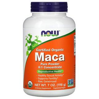 Now Foods, Certified Organic Maca, Pure Powder, 7 oz (198 g)