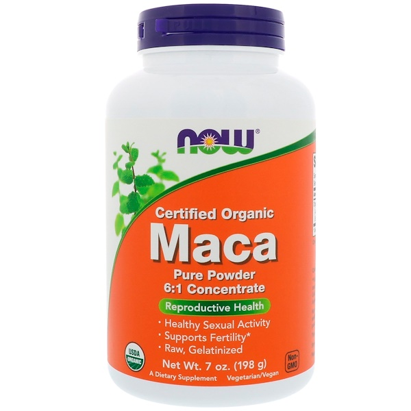 Now Foods, Certified Organic Maca, Pure Powder, 7 oz (198 g)