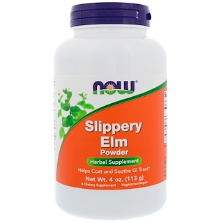 Now Foods, Slippery Elm, Powder, 4 oz (113 g)