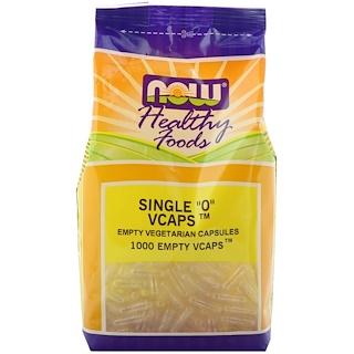"""Now Foods, Single """"0"""" Vcaps, 1000 كبسولة نباتية فارغة"""