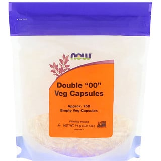 "Now Foods, Double ""00"" Veg Capsules, 750 Empty Veg Capsules"